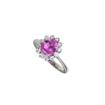 PINK SAPPHIRE AND DIAMOND COCKTAIL RING
