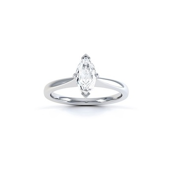 Classic Marquise Cut Diamond Ring In Platinum