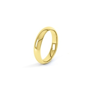 18ct Yellow Gold 4mm D Shape Wedding Ring