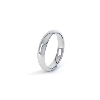 18ct White Gold 5mm D Shape Wedding Ring