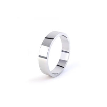 18ct White Gold 8mm Flat Shape Wedding Ring