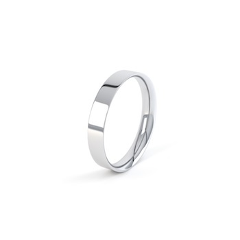 18ct White Gold 6mm Easy Fit Shape Wedding Ring
