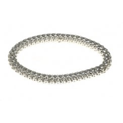 Sterling Silver Elasticated Mesh Bracelet