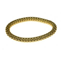 Sterling Silver & Yellow Gold Elasticated Mesh Bracelet