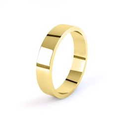 18ct Yellow Gold 4mm Flat Shape Wedding Ring