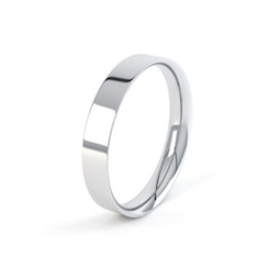 18ct White Gold 4mm Easy Fit Shape Wedding Ring