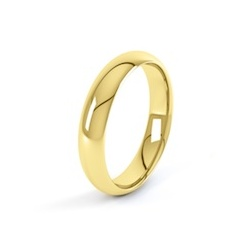 18ct Yellow Gold 6mm D Shape Wedding Ring