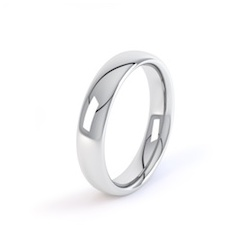 Platinum 4mm Court Shape Wedding Ring